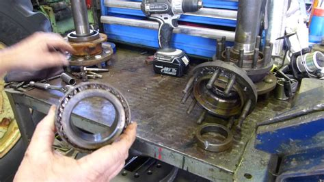 replace rear axle seals  bearings   massey