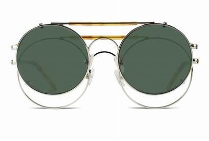 Sunglasses Round Clip Prescription Mens Lens Double