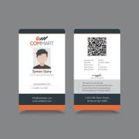 id card  vector graphic art