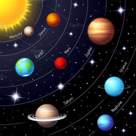 Solar System Illustrations Creative Market