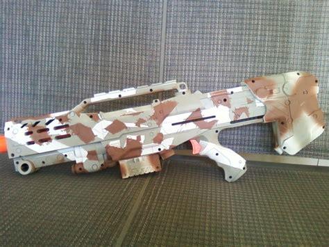 winter camo nerf gun 4 by thepitbulllover on