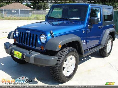 jeep dark blue 2009 jeep wrangler x 4x4 deep water blue pearl coat dark