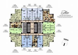 three central makati city condos for sale by megaworld With centralized floor plan
