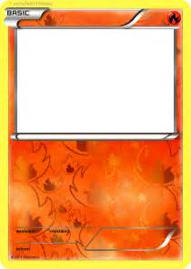 fire pokemon card blank template images
