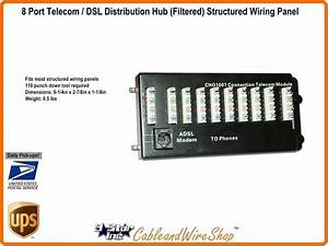 Structured Wiring 8 Port 110 Idc Telephone Module With Dsl