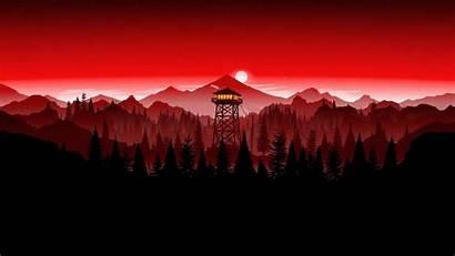 Firewatch Wallpapers Tower Dark Edit Dual Aesthetic