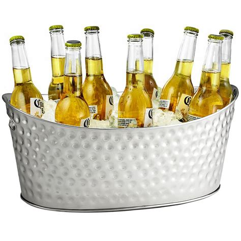 cooler tubs for drinks stainless steel dimpled oval beverage tub tub