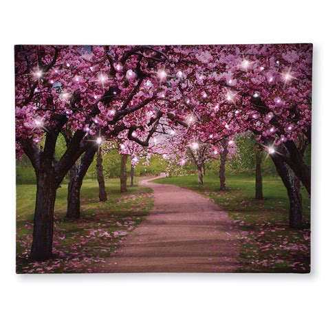 The cherry is one of the world's most delicious fruits, which explains why so many candies and snacks are flavored like this tiny red morsel. Lighted Cherry Blossom Trees Canvas   eBay