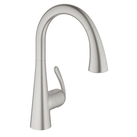 kitchen faucet pedal grohe ladylux cafe single handle pull sprayer kitchen