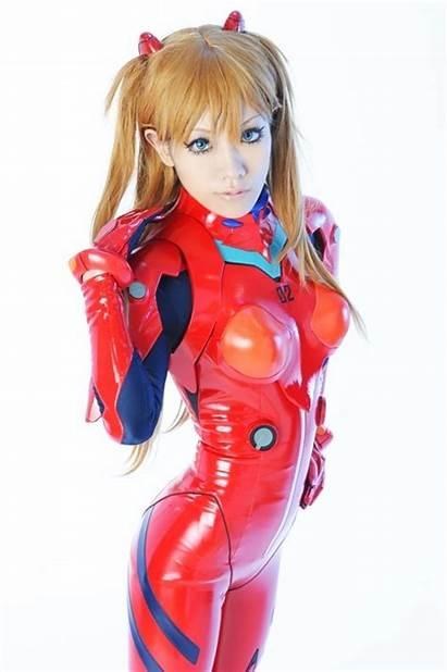 Cosplay Evangelion Asuka Langley Genesis Latex Neon