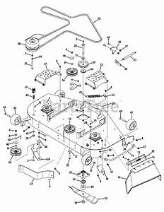 Cub Cadet Parts On The Mower Deck 48