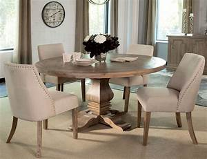 Florence, Warm, Natural, Round, Dining, Room, Set, By, Donny, Osmond, From, Coaster