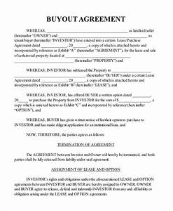 buyout agreement sample real estate templates resume With business buyout agreement template
