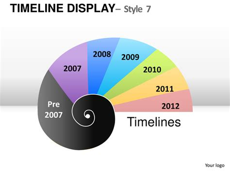 roadmap time  display  powerpoint  templates