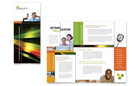 Three Quarters Apple Brochure Template Design And Layout Software Brochure Template Word Publisher