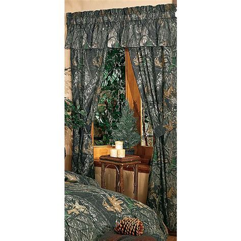 camouflage curtains mossy oak new up camo rod
