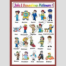 Jobs & Occupations Pictionary  Esl Worksheet By Macomabi