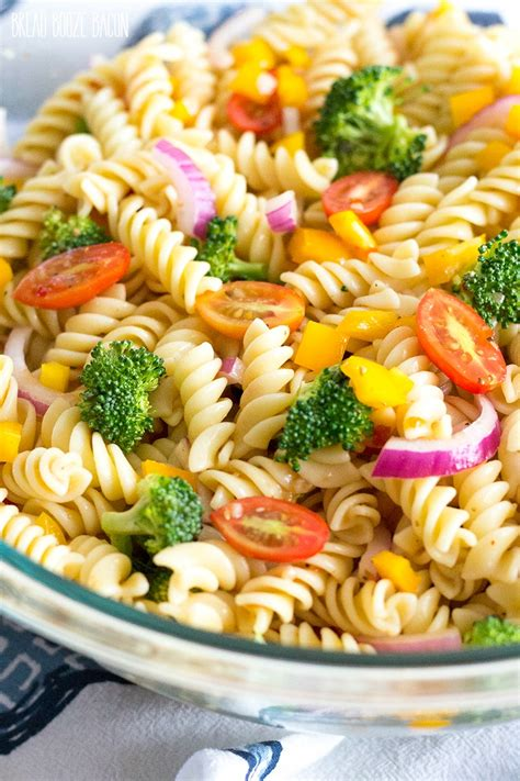 easy vegetable pasta salad with italian dressing yellowblissroad com