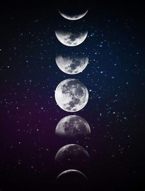 poster fases de la luna de ladyviolet en  pintura