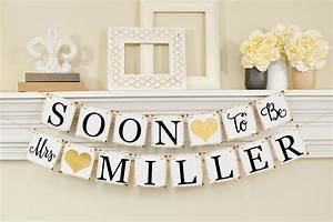 soon to be mrs banner bridal shower decorations bridal With wedding shower banners
