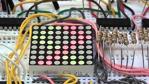 Experiments 5 3  8x8 Led Dot Matrix Display Tutorial  Red  Green Common Anode  Using The Arduino