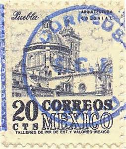 Postcard Stamp Mexico