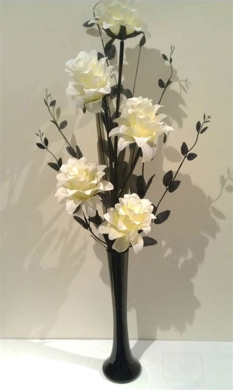 Dried Flower Arrangements In Vases by Artificial Flower Arrangements Black Vase And Artificial
