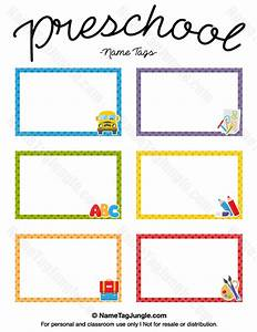 free printable preschool name tags the template can also With locker tag templates