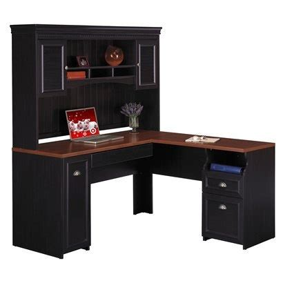 L Shaped Desk With Hutch Target by Bush Fairview L Shaped Computer Desk And Hutch White