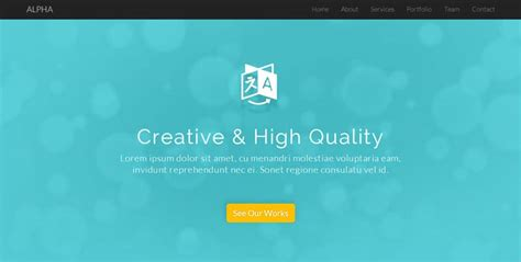 Continuous Scrolling Website Template by 20 Most Beautiful Free Html5 Css3 Website Templates