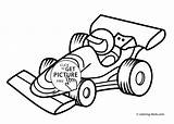 Coloring Racing Pages Printable Transportation sketch template