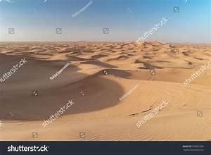 Sand Dunes Blue Sky Dubai Desert Stock Photo 593861000 ...