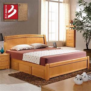Buy Bo whole heart beech wood bed double beds 1.5 m 1.8 m ...