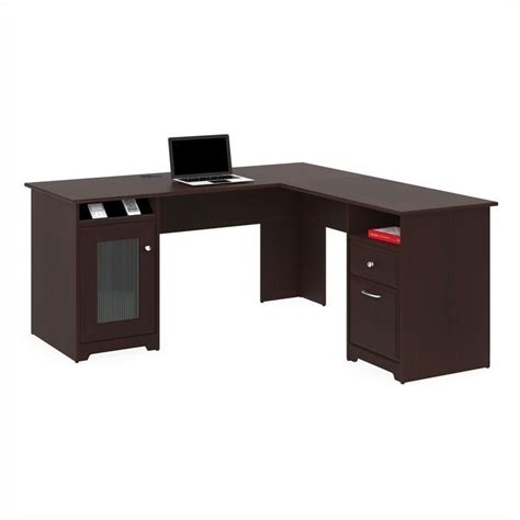 Computer Desk L Shaped by Bush Cabot 60 Quot L Shaped Computer Desk In Harvest Cherry