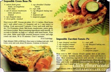 ideas   impossible pie recipe booklet