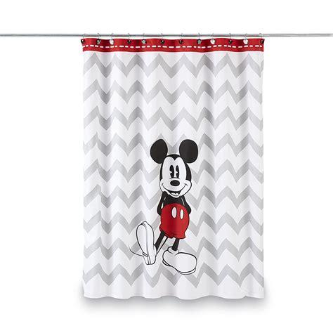 curtain shop disney mickey mouse shower curtain chevron
