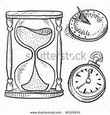 Hourglass Vector Doodle Sundial Shutterstock Illustration Illustrations Royalty Tattoo Coloring Pages Clipart sketch template