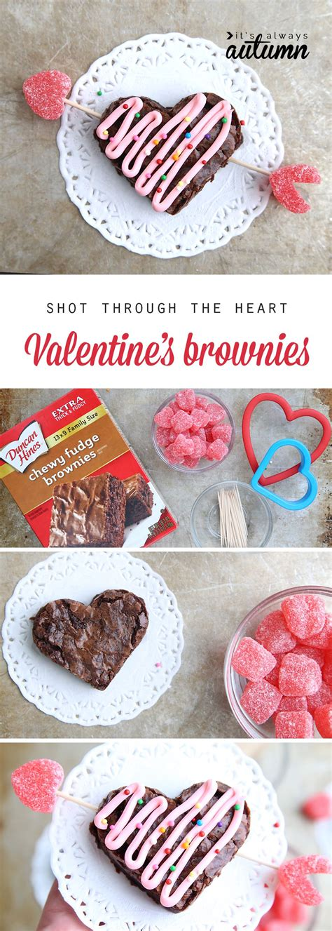 Shot Through The Heart (shaped) Valentine's Brownies