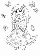 Coloring Gypsy Cassandra sketch template
