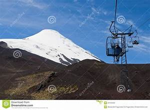 Cable Car In Osorno Volcano Chile Editorial Stock Photo ...