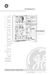 ge top mount  frost refrigerator manual