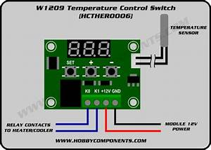 W1209 Temperature Control Switch  Hcther0006