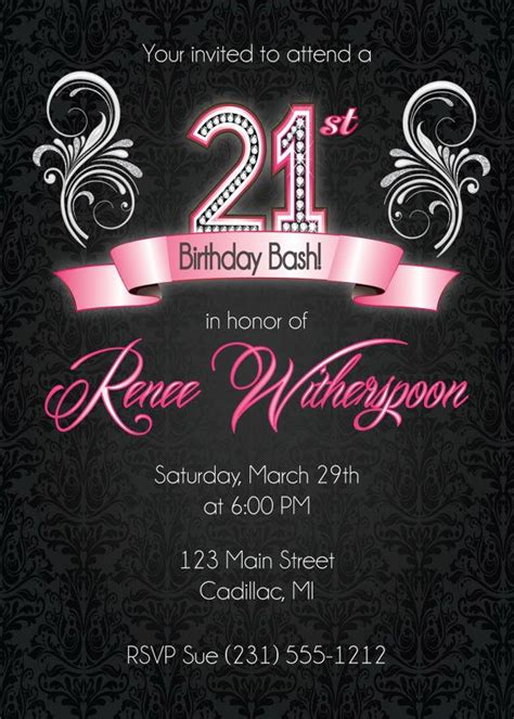 21 best images about 21st birthday invitations on