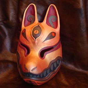 Kitsune mask gold by missmonster.deviantart.com | art ...
