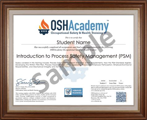 free courses with certificates oshacademy course 736 introduction to process safety