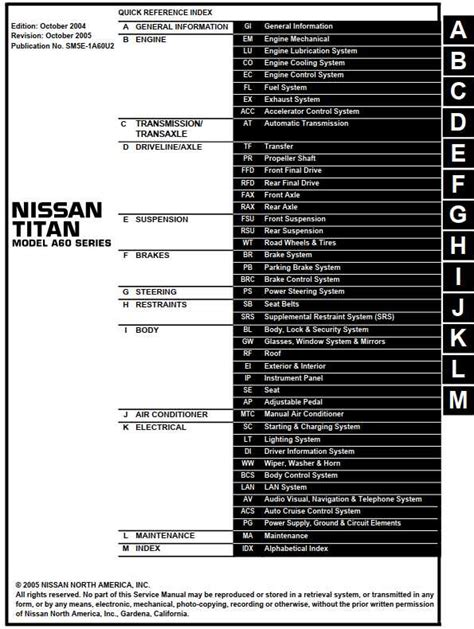 car repair manuals download 2005 nissan titan electronic valve timing nissan titan model a60 series 2005 service manual auto cruise control system pdf online download