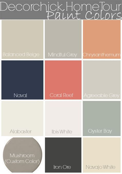 paint colors in our home and updated home tour