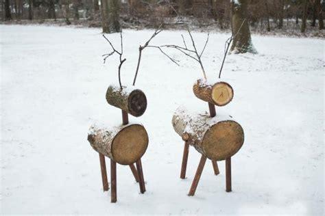 build rustic deer  cut logs  tos diy