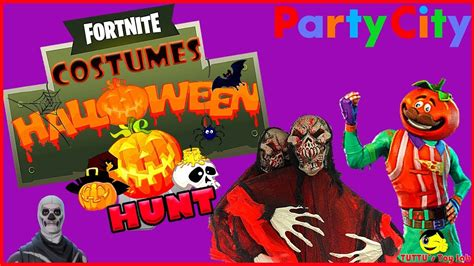 fortnite costumes party city halloween store hunt youtube