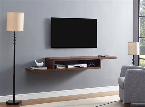 Tv Component Shelf by Ascend 72 Quot Asymmetrical Wall Mounted Tv Component Shelf